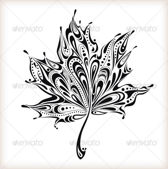 Abstract leaf - Decorative Symbols Decorative