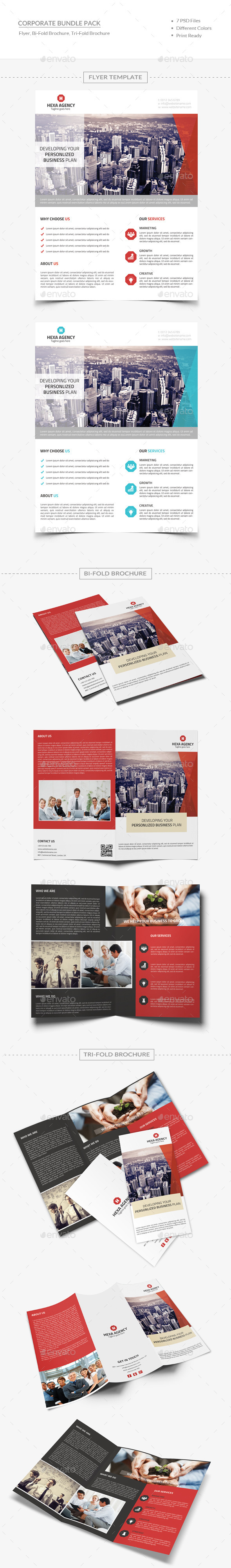 Business Bundle - Brochures Print Templates