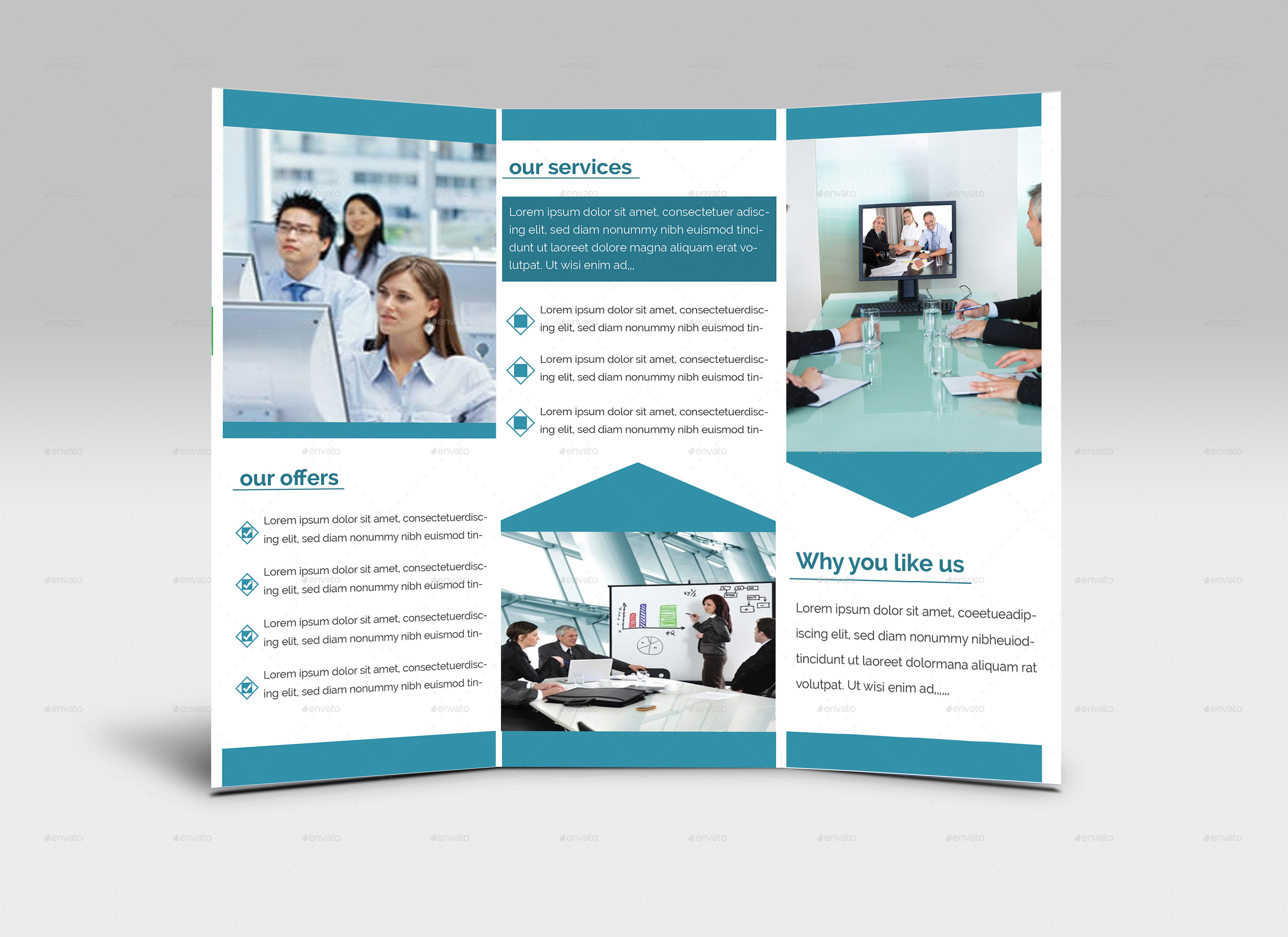 simple trifold brochure design by zihaddream graphicriver