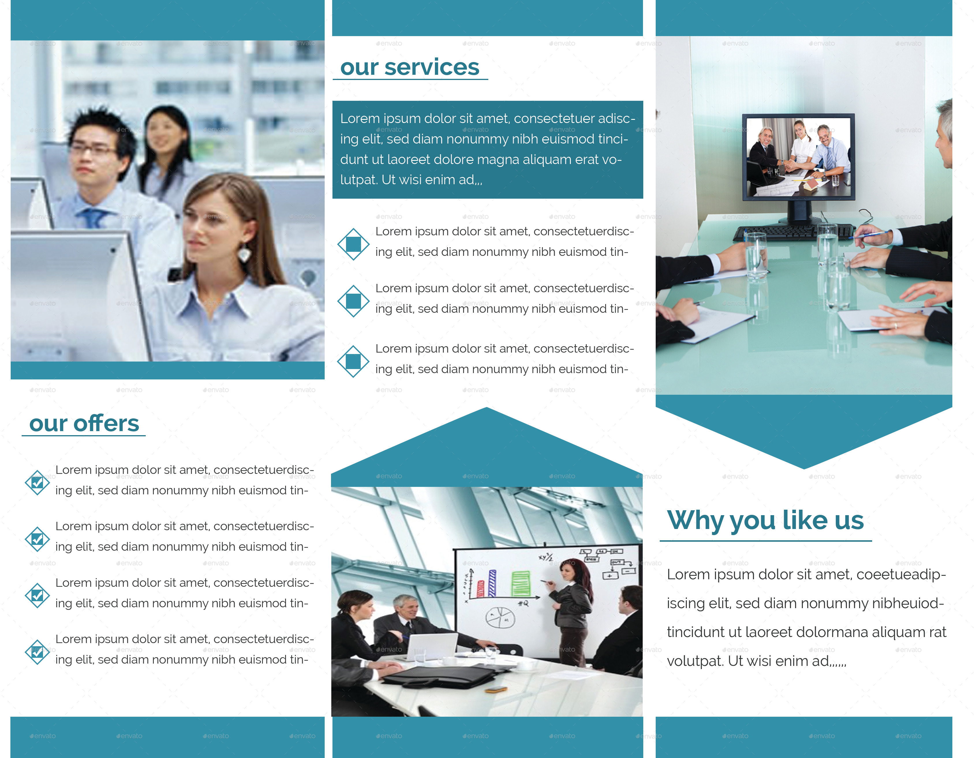 Simple Trifold-Brochure Design by zihaddream | GraphicRiver