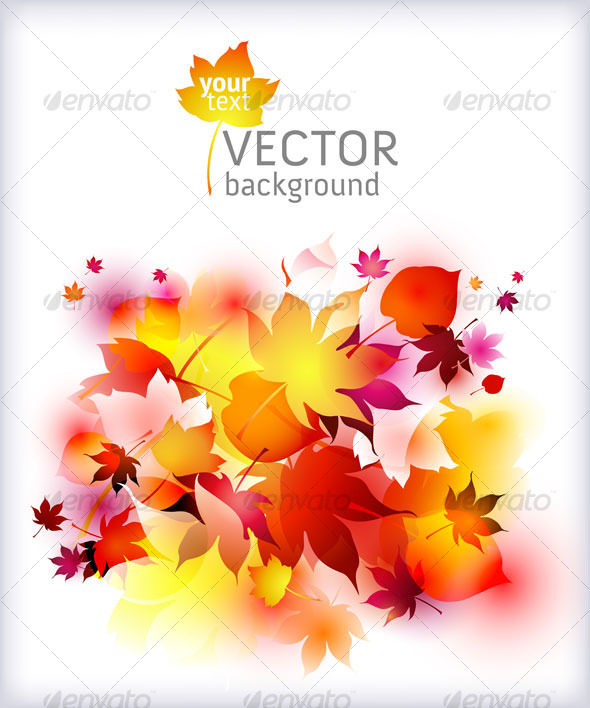 Autumn background - vector abstract  - Backgrounds Decorative