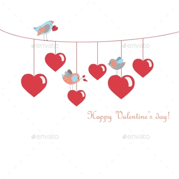 Birds Celebrating Valentine's Day - Valentines Seasons/Holidays