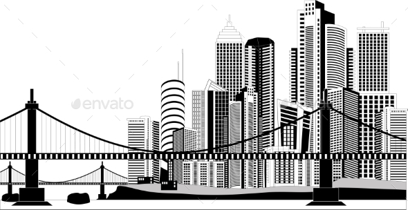 Downtown Skyline - Buildings Objects