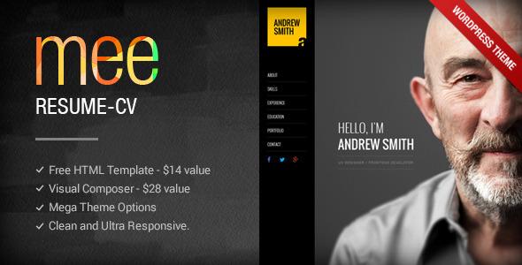 MEE – Responsive Resume / Personal Portfolio theme