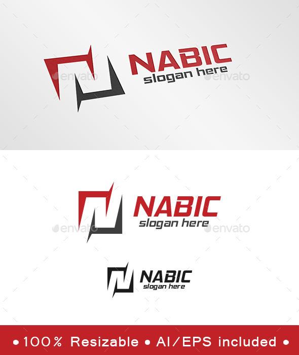 Letter N Nabic Logo - Letters Logo Templates