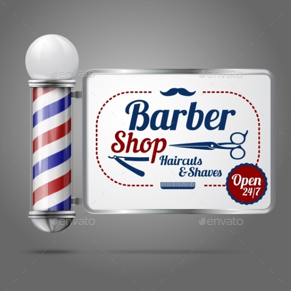 Old Fashioned Barber Shop - Man-made Objects Objects