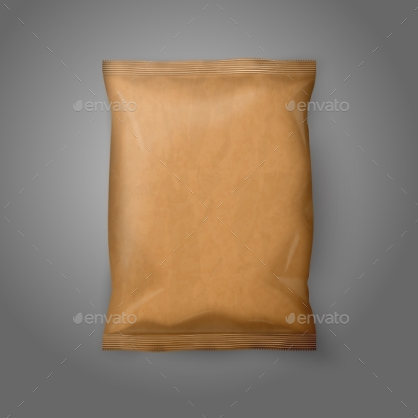 Blank Paper Snack Bag - Man-made Objects Objects