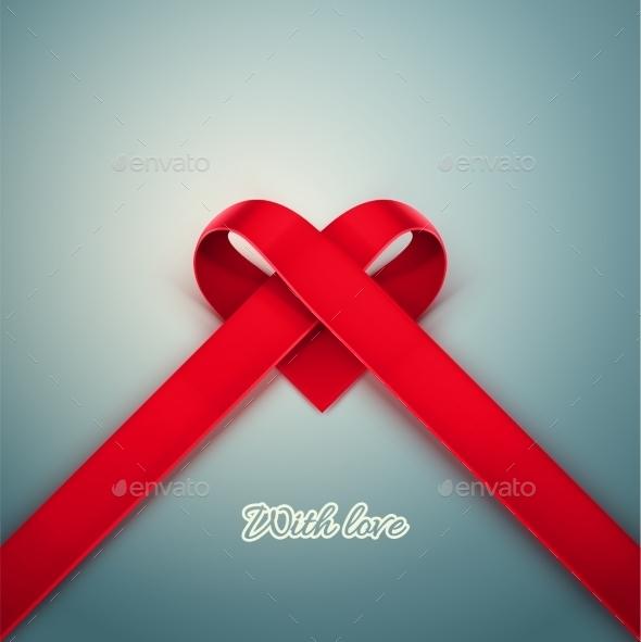 Heart from Ribbon - Valentines Seasons/Holidays