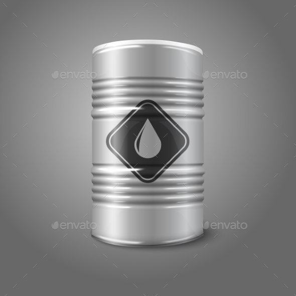 Oil Barrel with Sign - Man-made Objects Objects