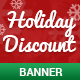 Christmas Holiday Discount Banner - GraphicRiver Item for Sale
