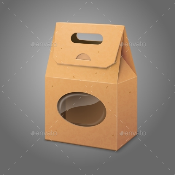 Paper Packaging Bag with Transparent Window - Man-made Objects Objects