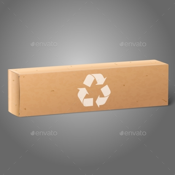 Oblong Paper Package Box - Man-made Objects Objects