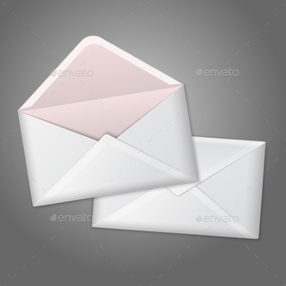 Open and Closed Envelope - Man-made Objects Objects