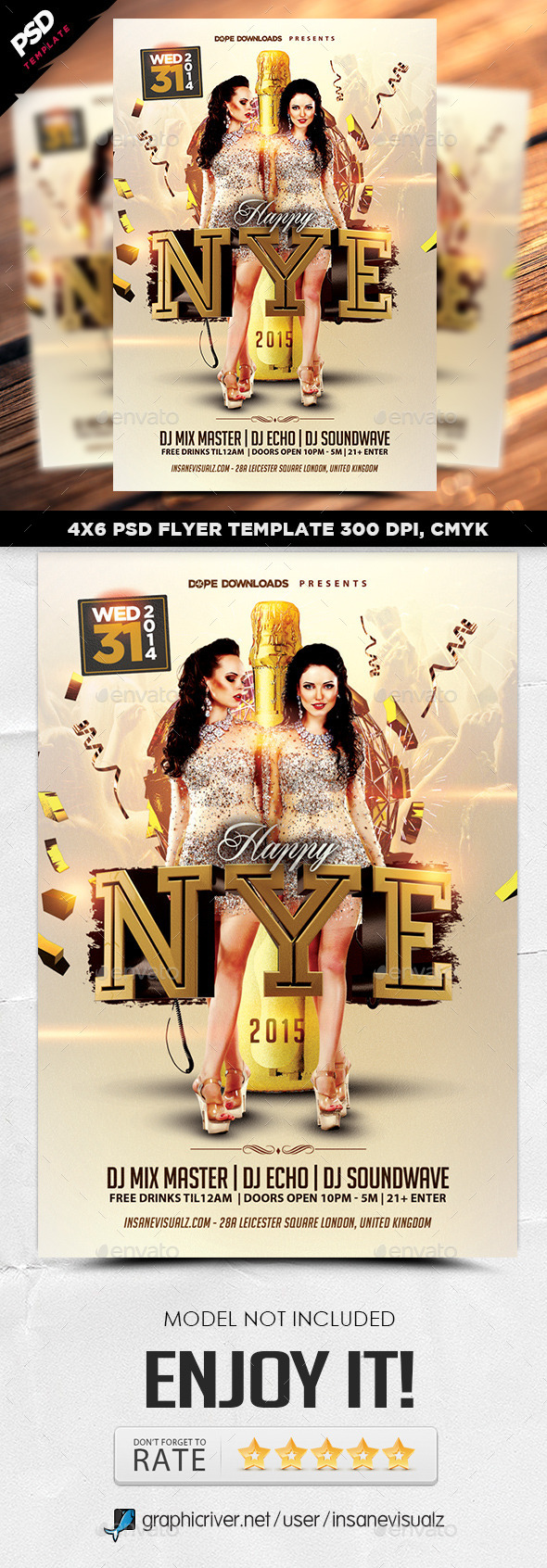 Happy NYE 2015 Flyer Template - Holidays Events