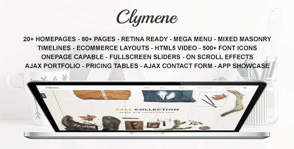 Clymene – Multipurpose HTML5 Template