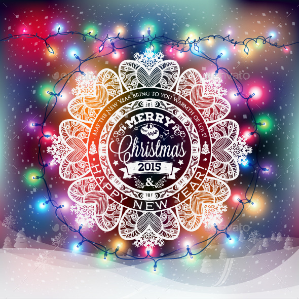 Christmas and New Year Snowflake Label - Seasons/Holidays Conceptual