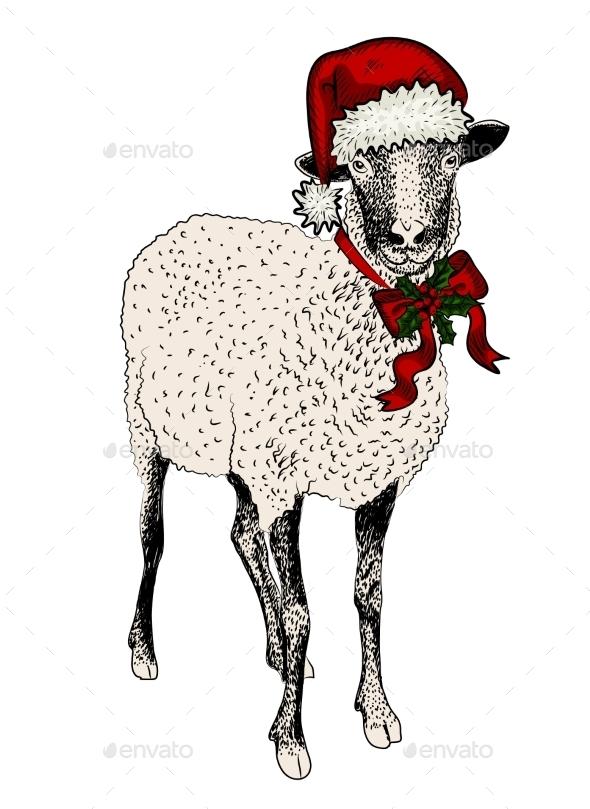 Vintage Sheep - New Year Seasons/Holidays