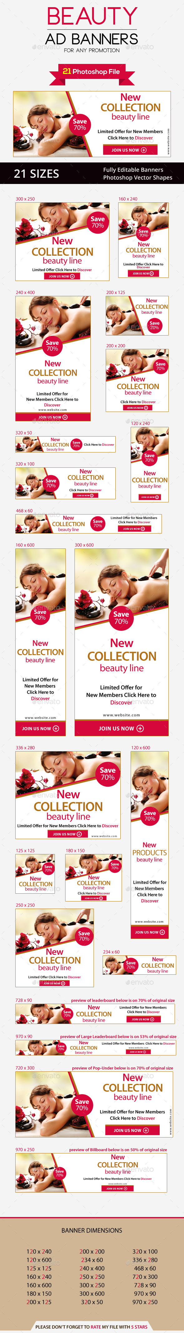 Beauty Ad Banners - Banners & Ads Web Elements