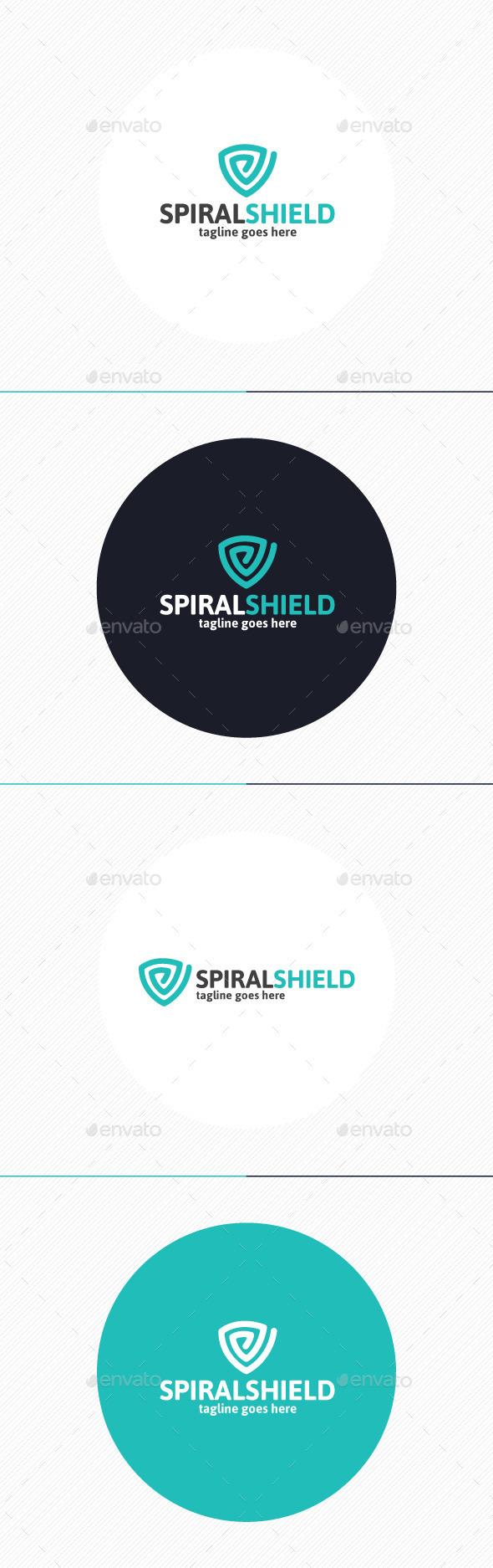 Spiral Shield Logo - Symbols Logo Templates