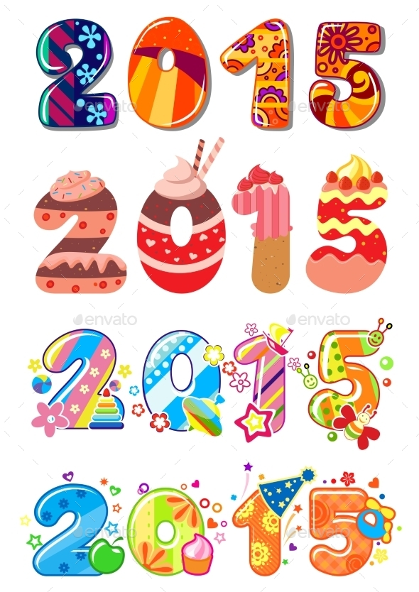 Childrens Party 2015 Numbers - New Year Seasons/Holidays