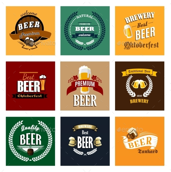 Vintage Beer Labels - Food Objects