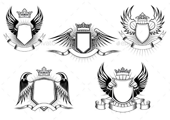 Royal Coat of Arms Templates - Decorative Symbols Decorative