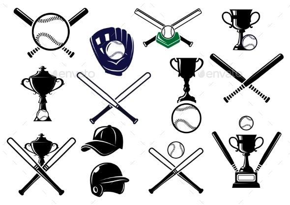 Baseball Equipments Set - Sports/Activity Conceptual