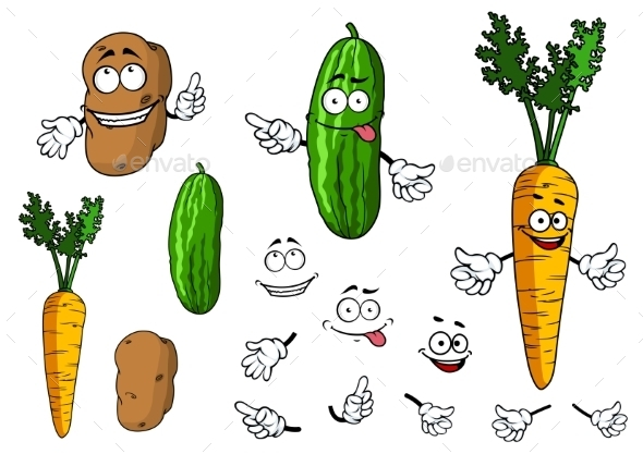 Cartoon Vegetable Characters - Miscellaneous Characters