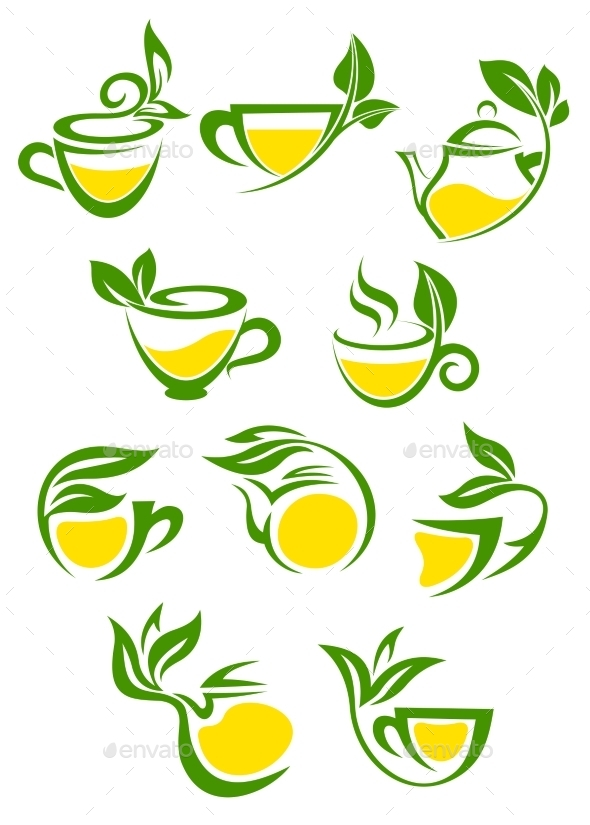 Tea Symbols - Food Objects