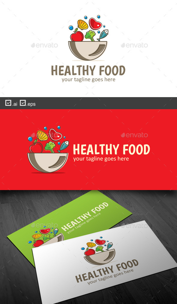 Healthy Food - Food Logo Templates