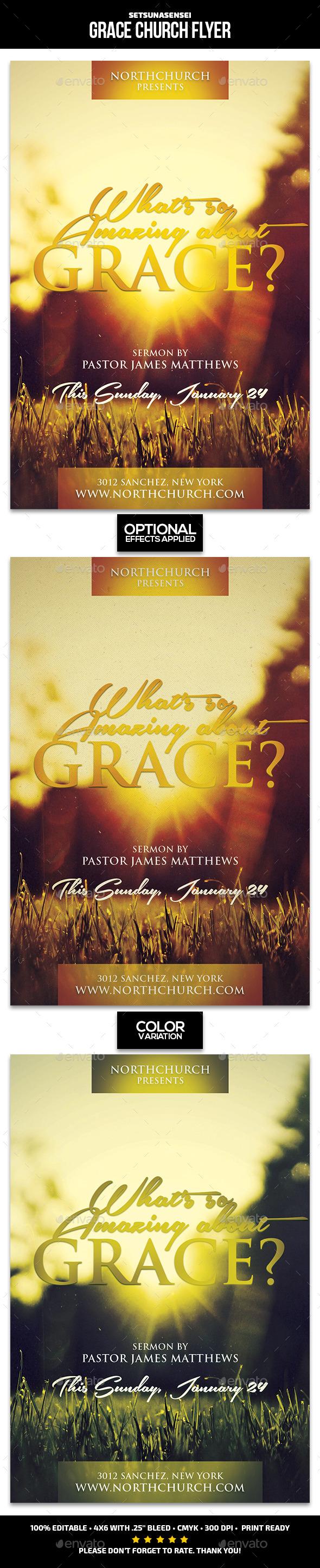 Grace Church Flyer - Church Flyers