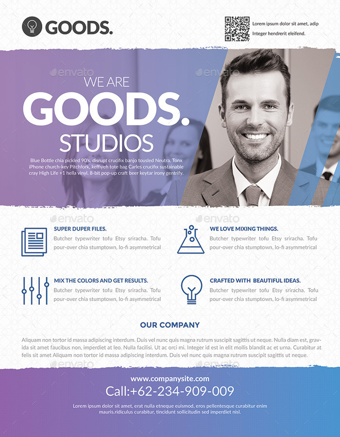 Corporate Business Flyer Templates 2 By Hazemtawfik | Graphicriver