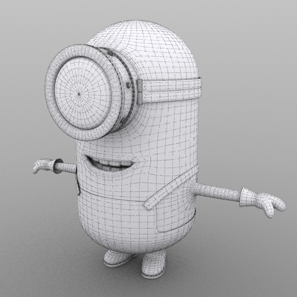 Minion model no  texture - 3DOcean Item for Sale