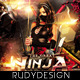 Ninja Warrior Party Flyer Design - GraphicRiver Item for Sale