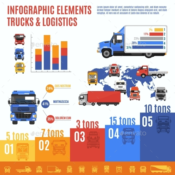 Truck Infographic Set - Miscellaneous Vectors