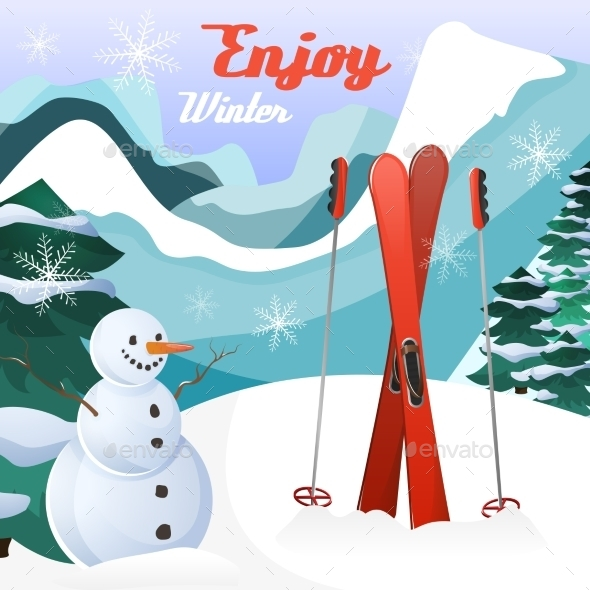 Winter Landscape Background - Miscellaneous Seasons/Holidays