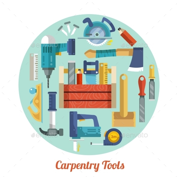 Carpentry Tools Set - Objects Vectors
