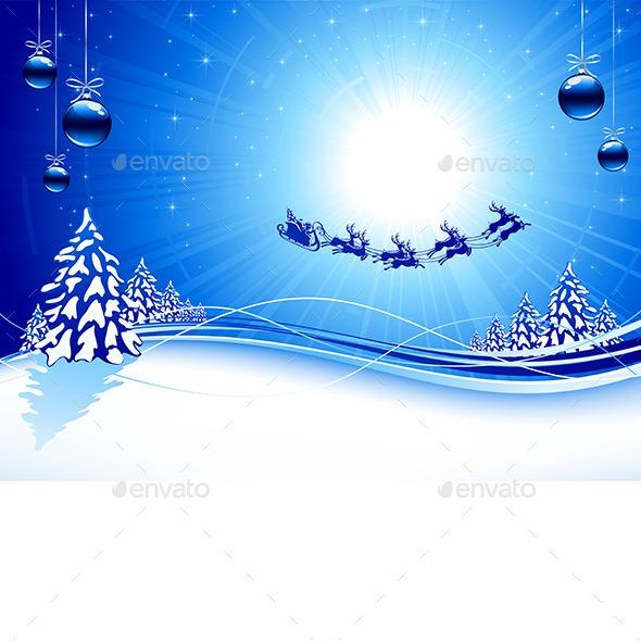 Blue Christmas Background - Christmas Seasons/Holidays