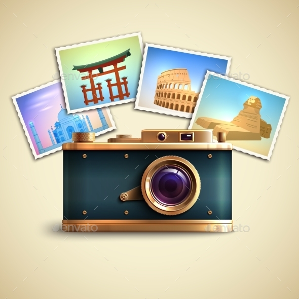 Travel Photo Background - Technology Conceptual