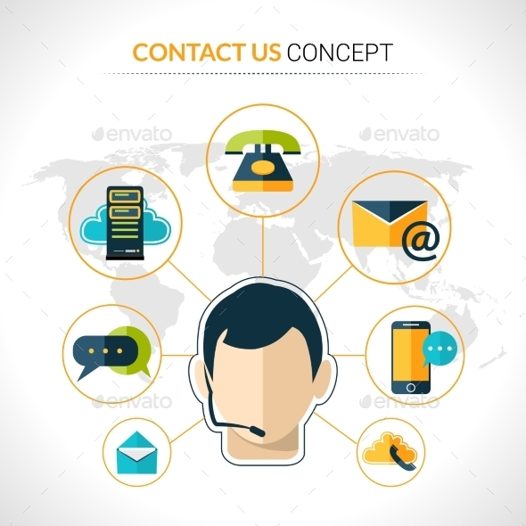 Contact Us Concept Poster - Web Technology
