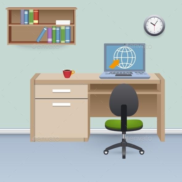 Cabinet Interior Illustration - Backgrounds Decorative