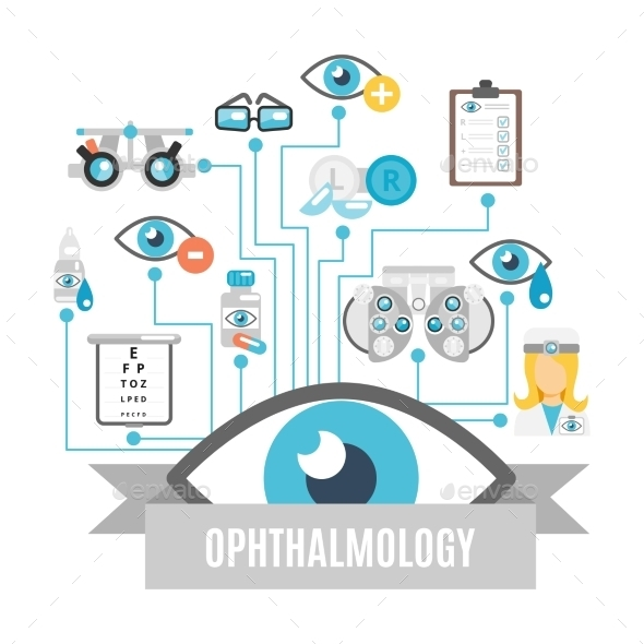 Ophthalmology Concept Flat - Health/Medicine Conceptual