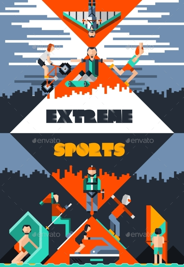 Extreme Sports Poster - Sports/Activity Conceptual