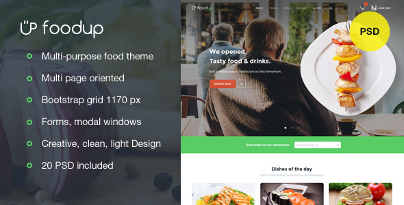 FoodUp — Multi-purpose food & restaurant theme