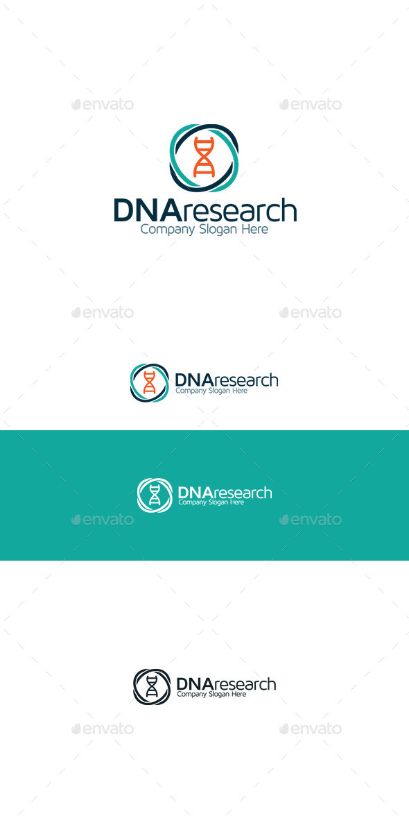 DNA Research - Symbols Logo Templates