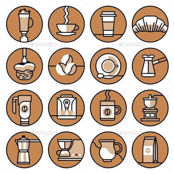 Coffee Icons - Food Objects