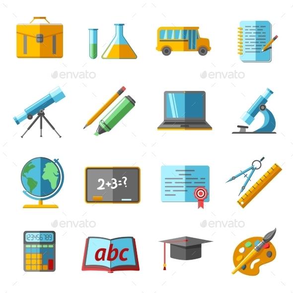 Education Icons Set - Miscellaneous Vectors