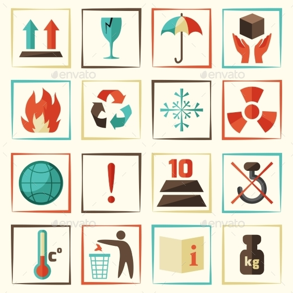 Packing Symbols Set - Miscellaneous Icons