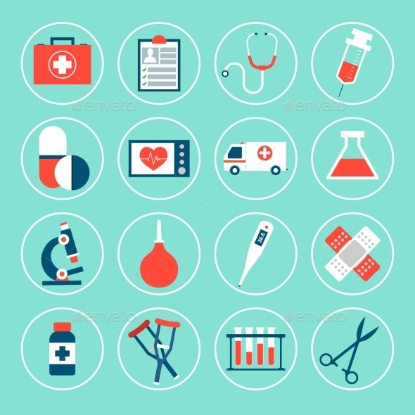 Medical Equipment Icons - Health/Medicine Conceptual
