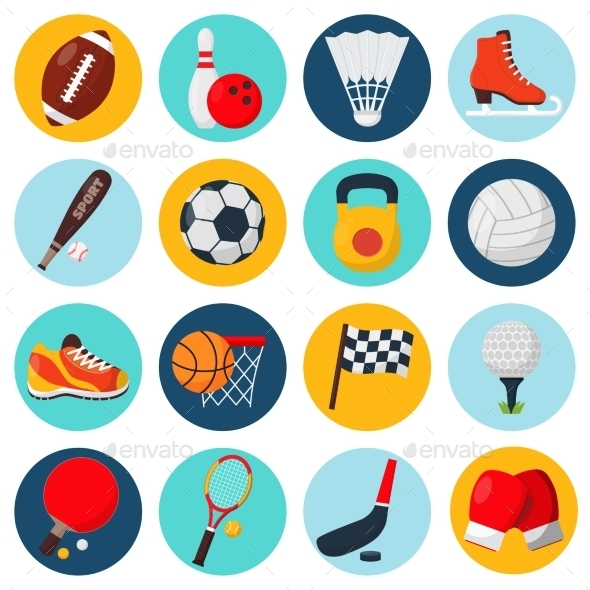 Sport Icons Set - Objects Icons